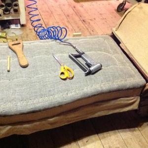 Upholstery in progress