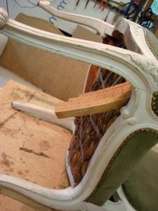 Louis XVI chair with broken springs