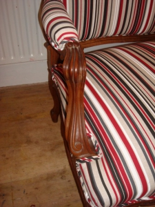 French Settee carved arms