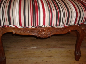 French Settee carvings on the front