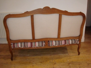 French Settee back details