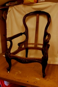 Chair frame after restoration
