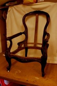 Chair frame after restoration